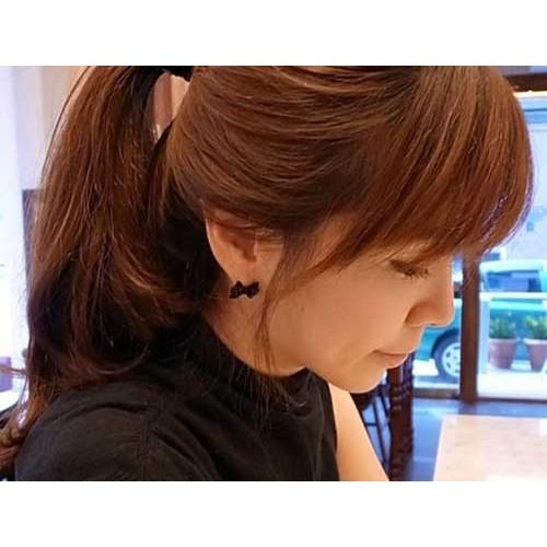 Black Butterfly Bow Stud Earring (2)-500x500
