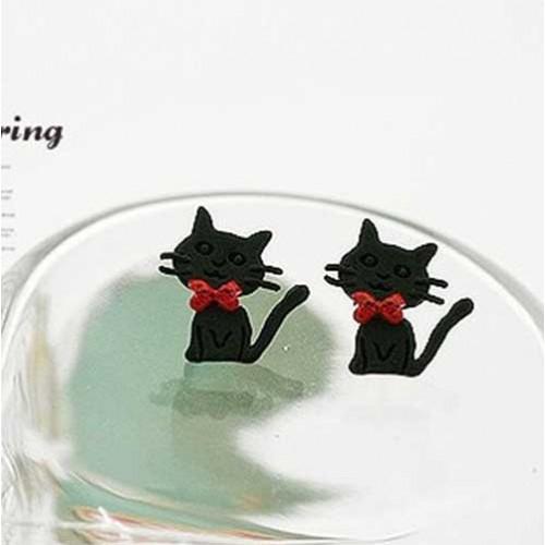 Cute Black Kitty Earring (1)-500x500
