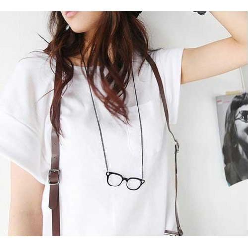 Hipsta Glasses Long Necklace [Black] (2)-500x500